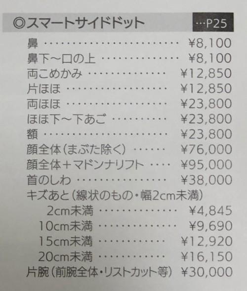 毛穴,費用